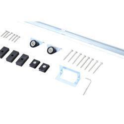 Kit complet porte coulissante 4 x 93 cm (p x l): rail, roulettes, visserie neuf 001
