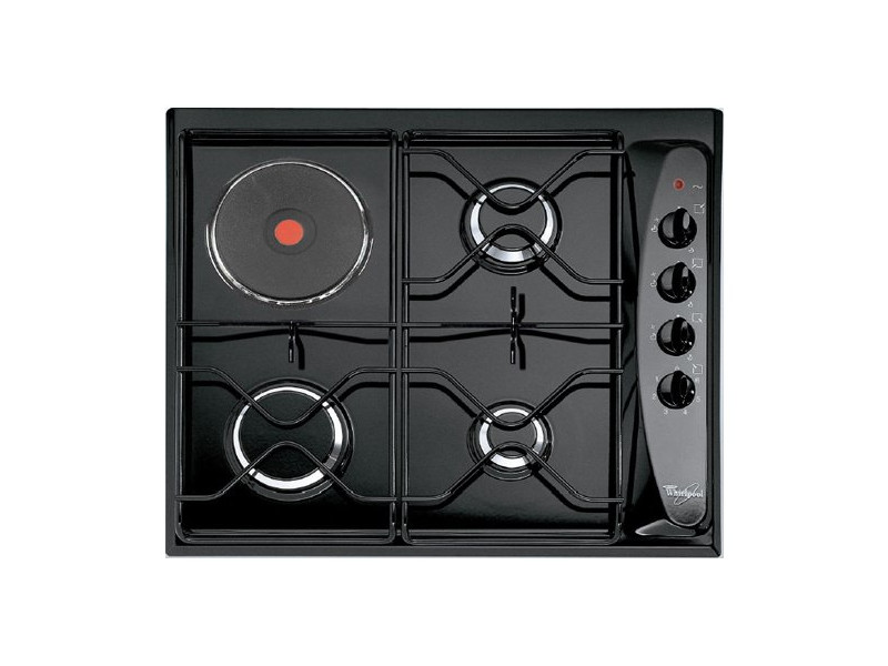 Table de cuisson mixte gaz et électrique 60cm 4 feux noir - akm261nb akm261nb