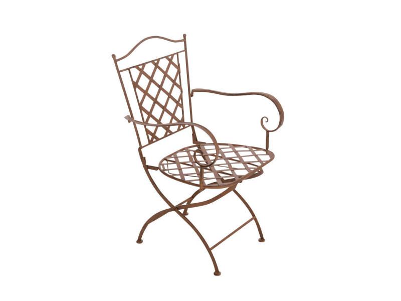 Chaise de jardin adara en fer forgé , marron antique