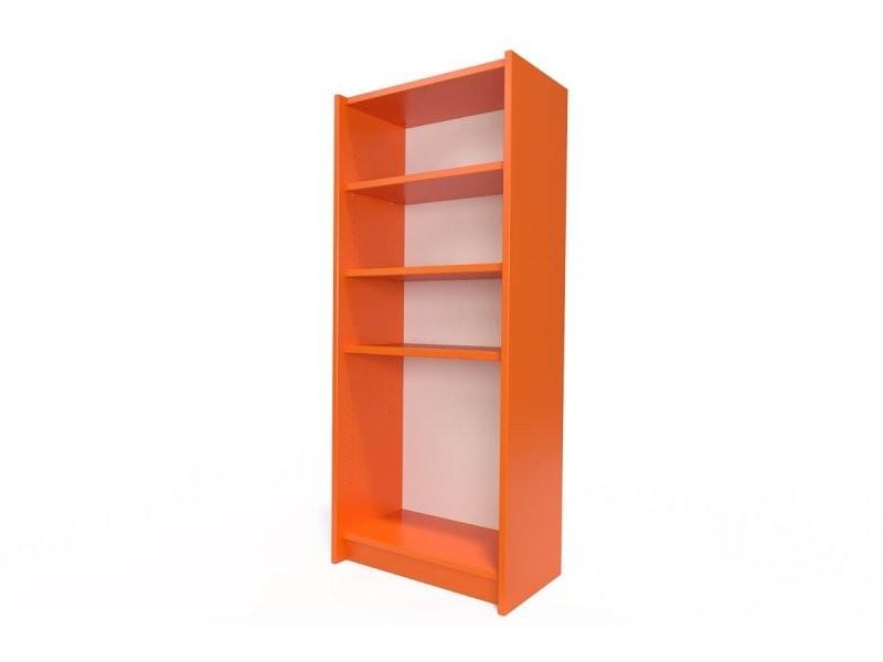 Étagère bibliothèque bois orange ETABIB-O