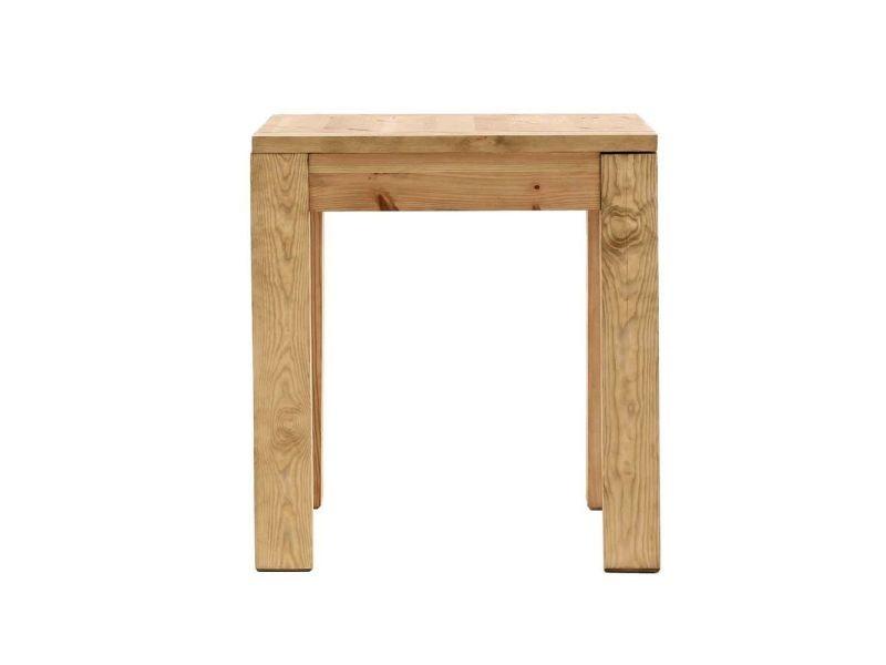 Table carrée en pin massif 80 x 80 cm - /miel - /miel COL-TRC80