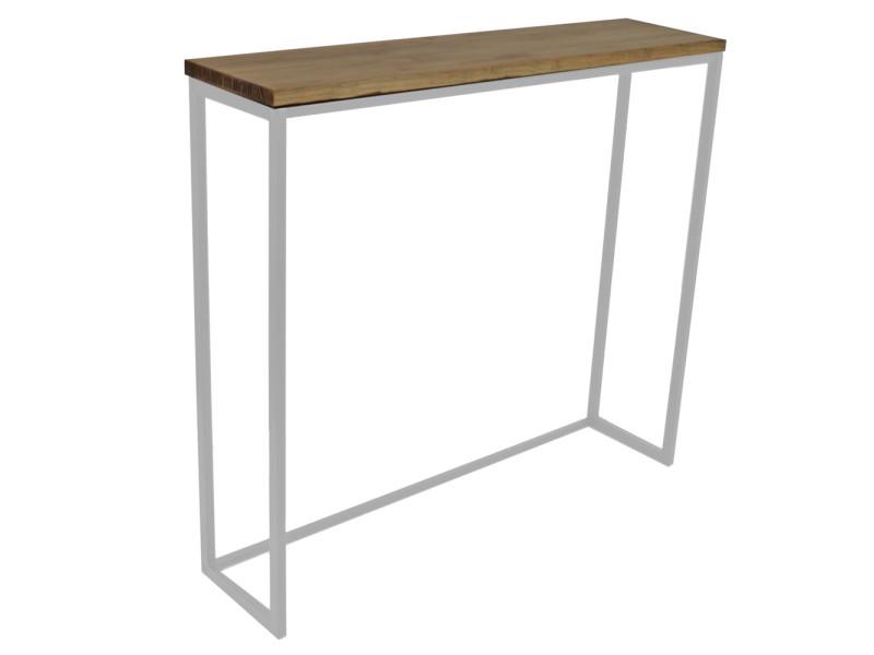 Table haute - mange debout icub - industriel 120 x 30 x 110 cm. Blanc ICB3012011030BL-EV