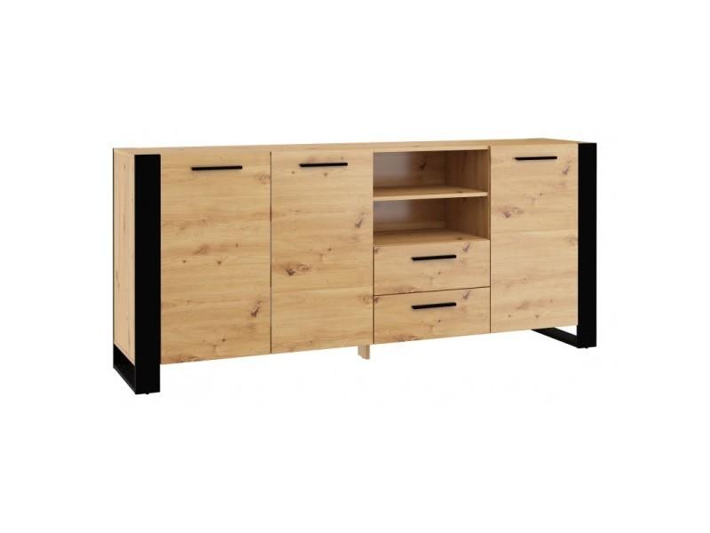 Commode rangement meuble nuka d 97x197x45cm (hxlxp) design moderne de haute qualité