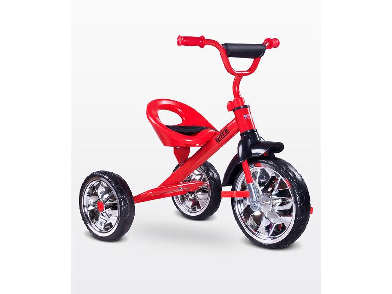 Lork - tricycle bébé enfant - dès 3 ans - cadre en acier - 3 roues en mousse - jusqu'à 25 kg - pédales anti-dérapantes - - rouge