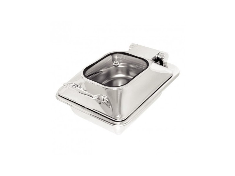 Chafing dish inox et verre gn 1/2 - olympia -