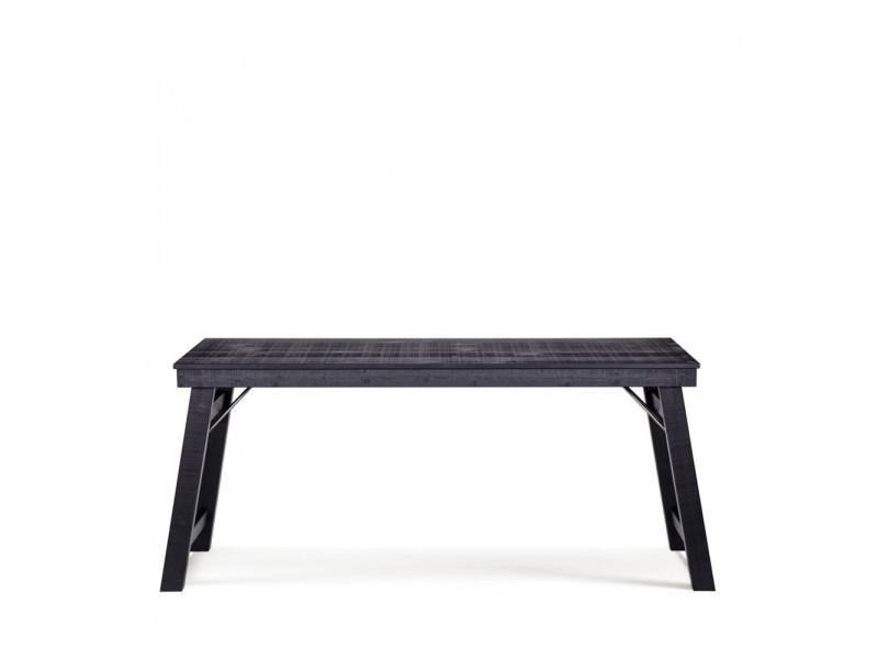 Bureau console en bois brut stevenson couleur noir 377606 z