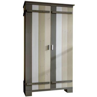 armoire 2 portes pour enfant 100 cm en pin massif multicolore vente de comforium conforama. Black Bedroom Furniture Sets. Home Design Ideas