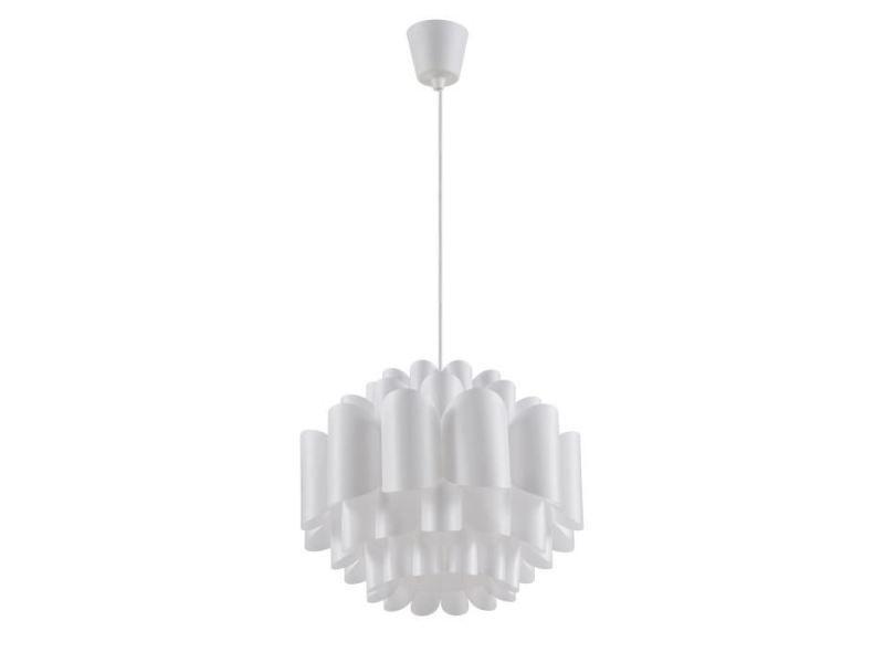 Lustre Suspension Déco Vitalina 64cm Argent & Blanc