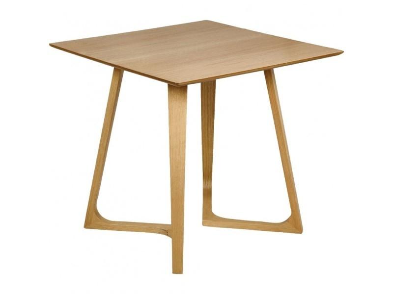 Table de repas 2 places décor bois et chêne massif - quadrato 7143