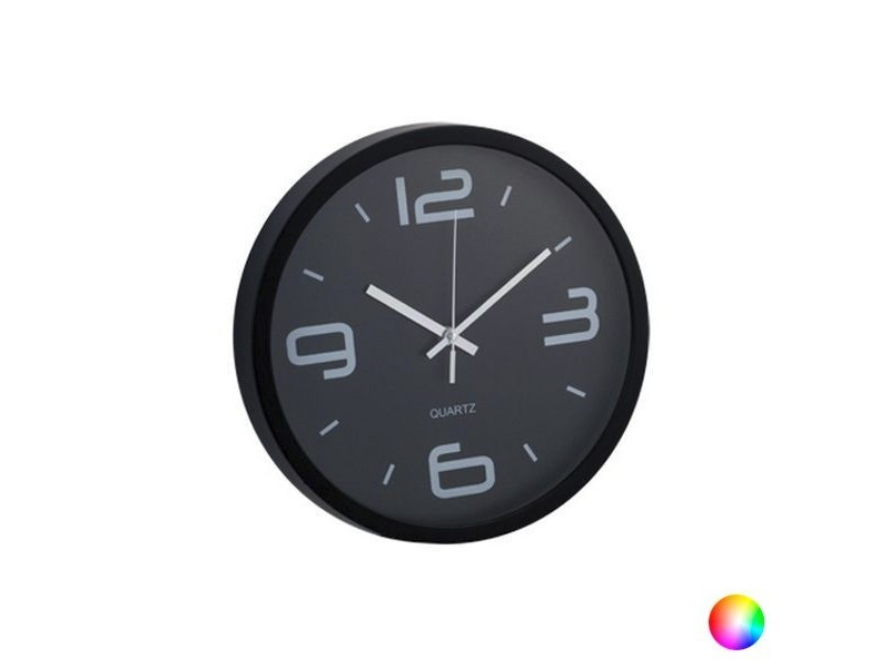 Horloge murale analogique ronde - horloge design couleur - rouge