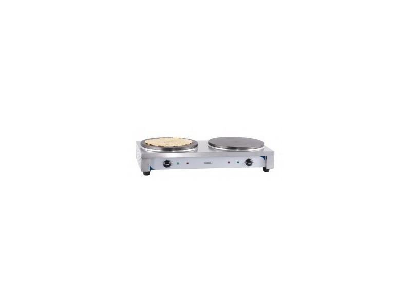 Crêpière double professionnelle électrique - l 770 x p 400 mm - casselin -