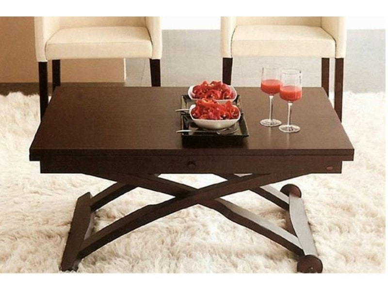 Table basse relevable extensible italienne mascotte weng - Table basse relevable extensible conforama ...