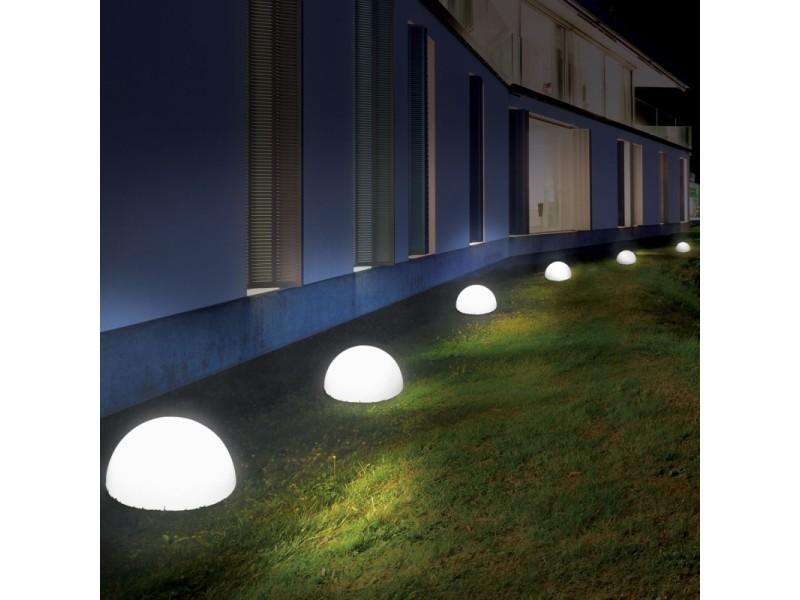 lampe demi boule 20 cm 4 leds solaires x2 vente de id. Black Bedroom Furniture Sets. Home Design Ideas