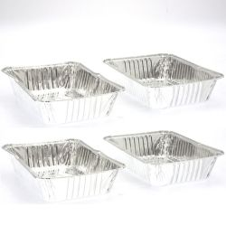 Lot de 3 barquettes de cuisson en aluminium pour barbecue - petit modèle
