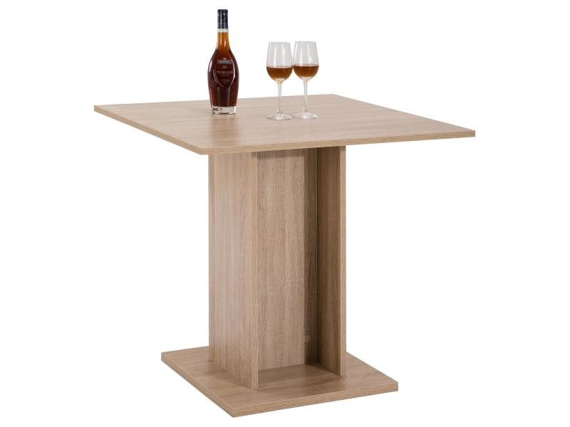 Table de salle à manger mdf décor chêne sonoma  Vente de Table  Conforama -> Table Salon Conforama Plateau Chene Grisé
