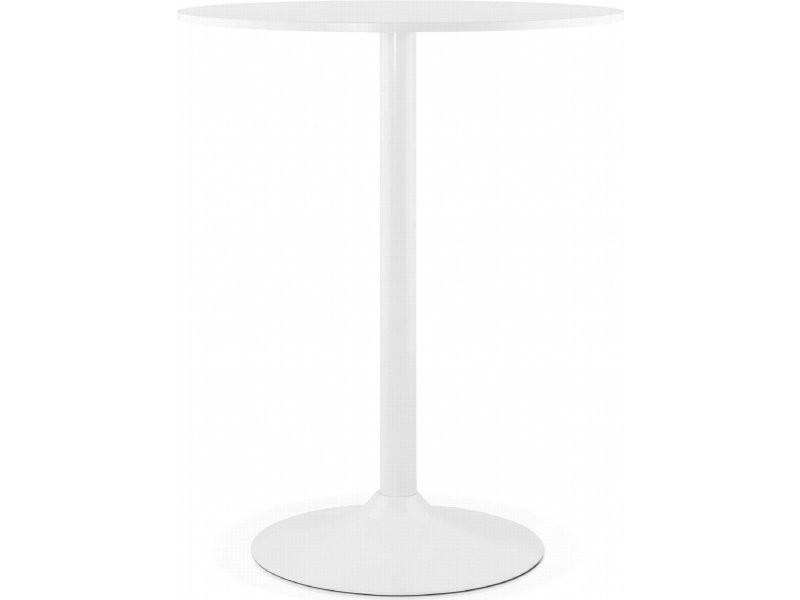 Table haute bar design bolero BT00110WH