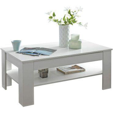 Table Basse Blanche 110 Cm Avec Tiroir Vente De Table Basse Conforama