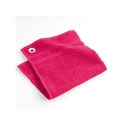 Torchon essuie-main éponge uni pink star rose 50 x 50 cm