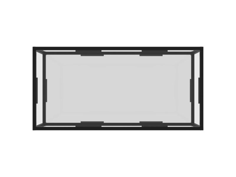 Vidaxl table à thé transparent 100x50x35 cm verre trempé 322897