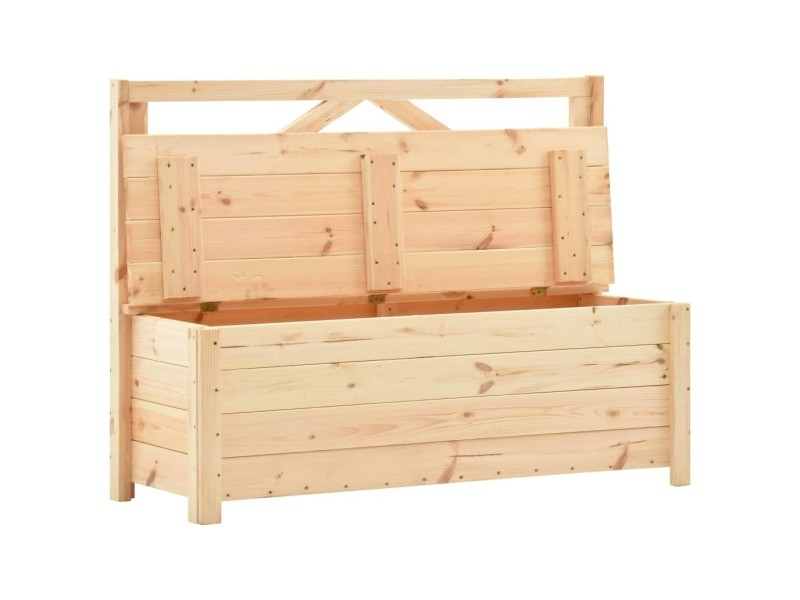 Vidaxl banc de rangement 120 cm bois de pin massif 288584