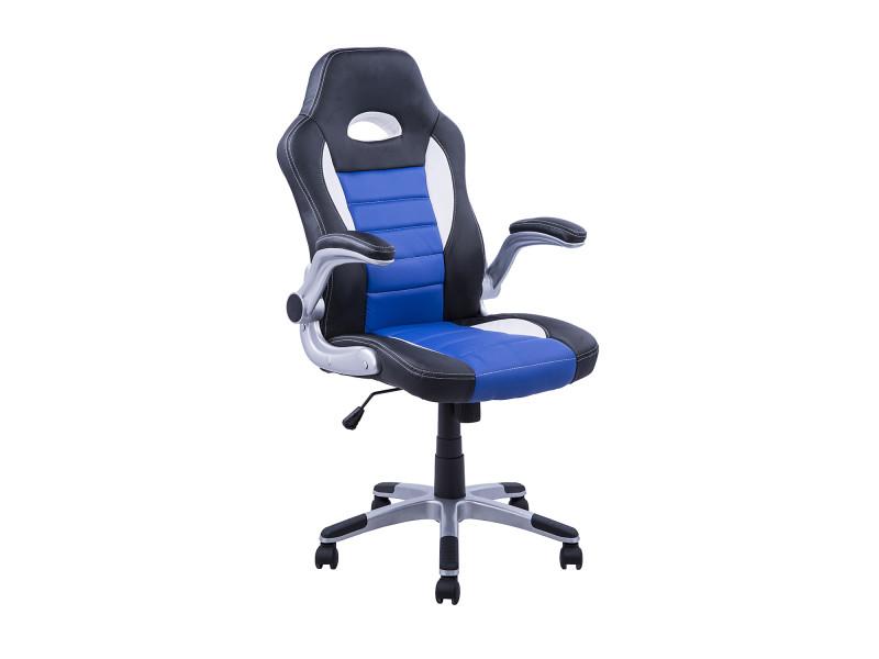 Chaise fauteuil de bureau pivotante hauteur réglable surface en pu