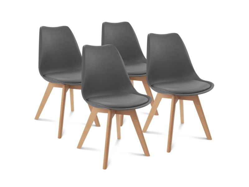 Chaises x4 sara grises pour salle manger vente de id - Conforama chaises salle a manger ...