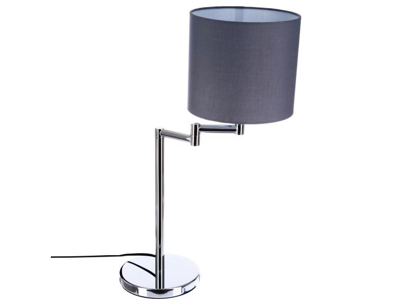 À Chrome Gris H54 De Jour Rond Vente Poser Lampe Cm Abat Nvm80wOn