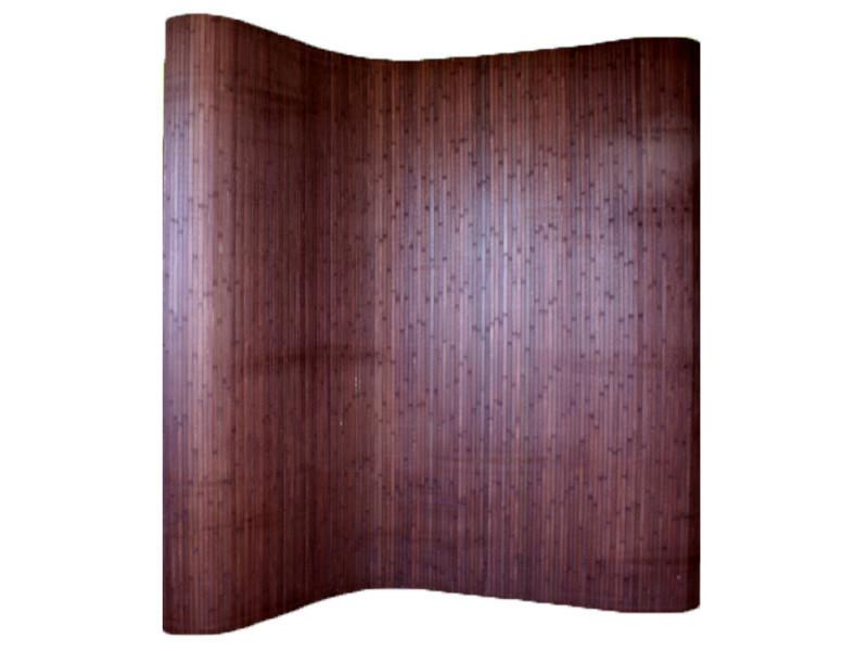 Paravent bambou coloris brun foncé, 200 x 250 cm -pegane-
