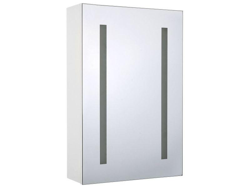 Armoire de toilette blanche avec miroir led 40 x 60 cm cameron 236746