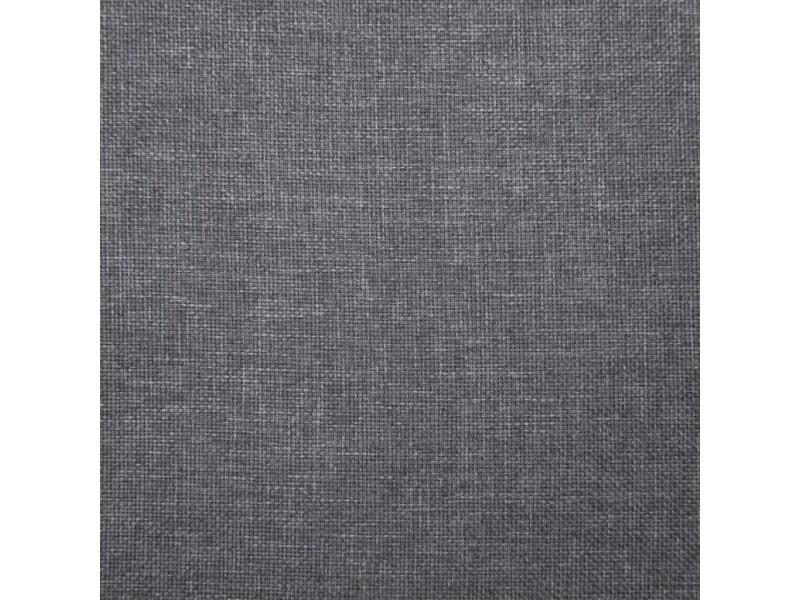 Icaverne - bancs coffres edition banc avec compartiment de rangement 116 cm gris clair polyester