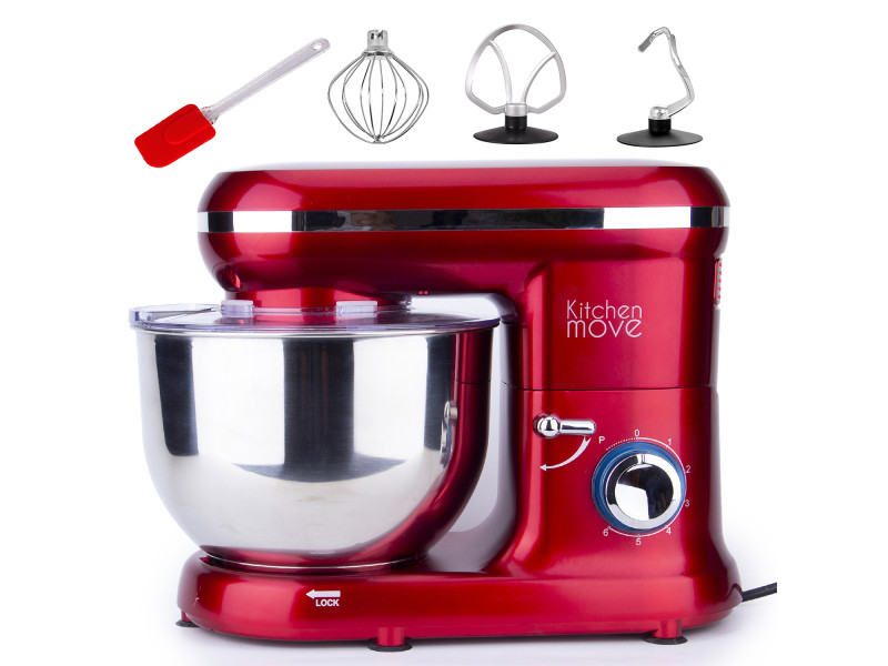 Robot pâtissier multifonctions 5.5l 1500w rouge - bat-1519 bat-1519