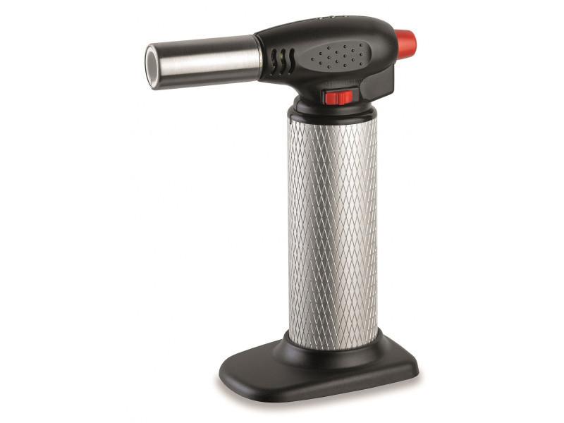 Chalumeau de cuisine piezo professionnel micro torche gaz rechargeable - toutes positions 360°