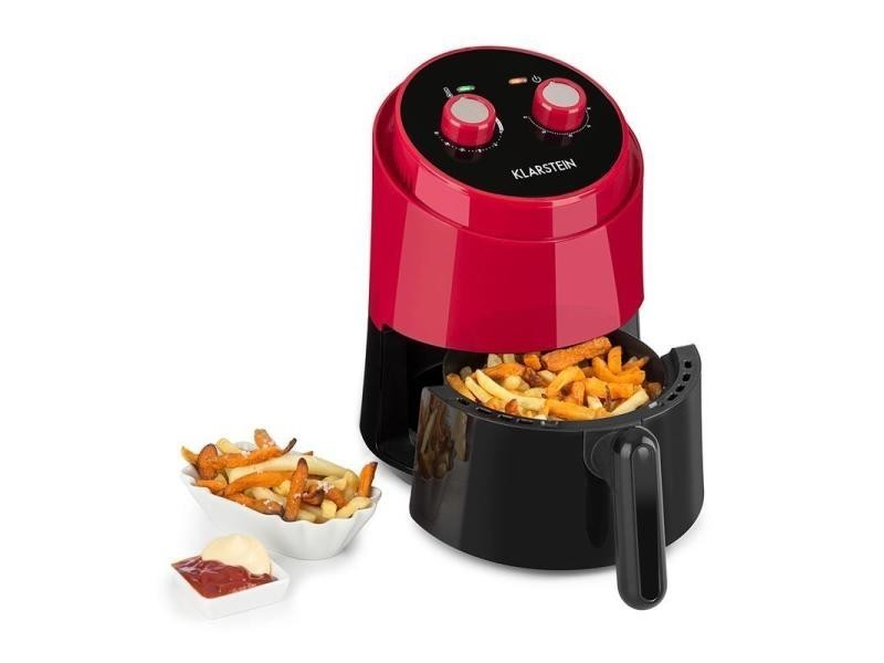 Klarstein well air fry friteuse à air chaud multifonction 1,5l 1230w - rouge