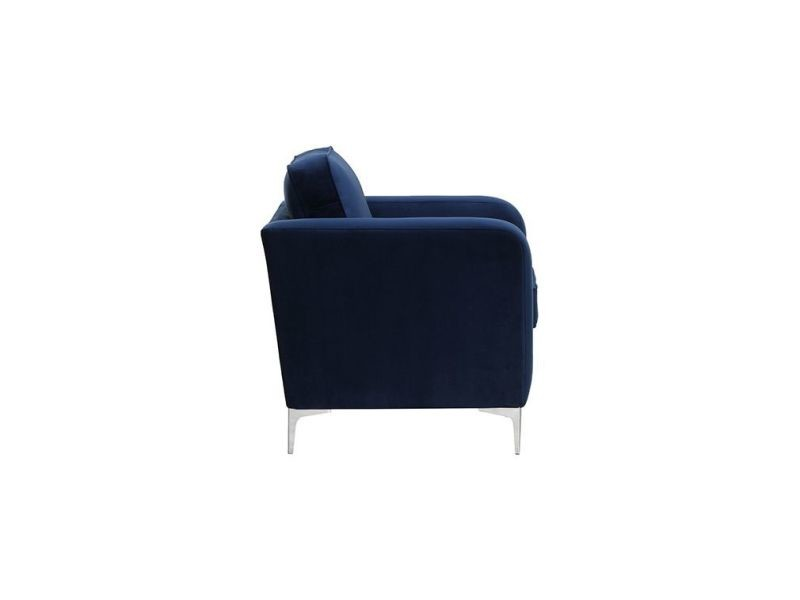 3ce8db1dc997c7 Fauteuil design velours bleu nuit harry - Vente de Fauteuil ...
