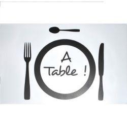 Set de table 28 x 44 cm transparent a table