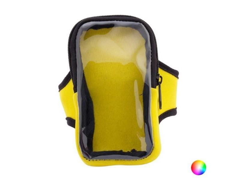Bracelet de transport pour smartphone à écran tactile - pochette 7,5 x 13 x 2 cm bras couleur - jaune