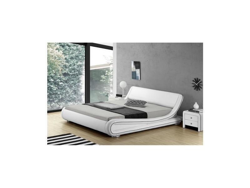 Love lit blanc liseré noir 180x200 cm