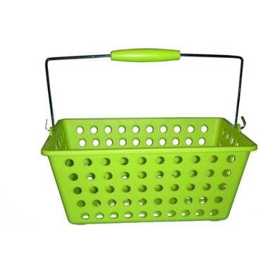 Panier de salle de bain vert anis Conforama