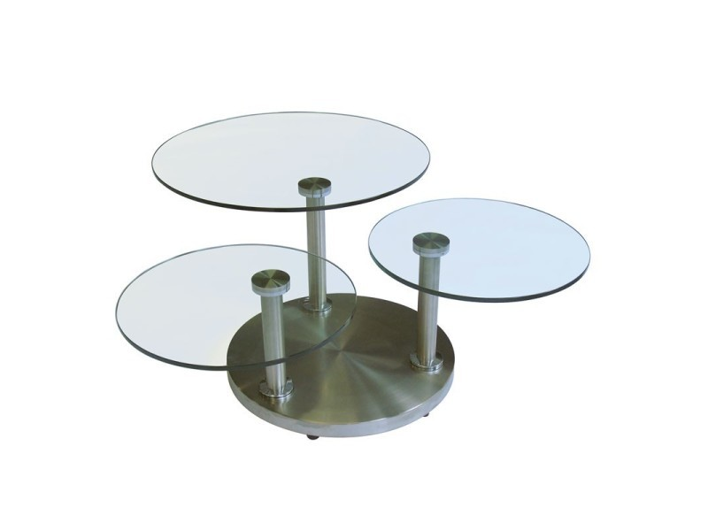 L 42 Métal X Et Table Articulée Verre Trygo 85 Basse H lK1JTcF3