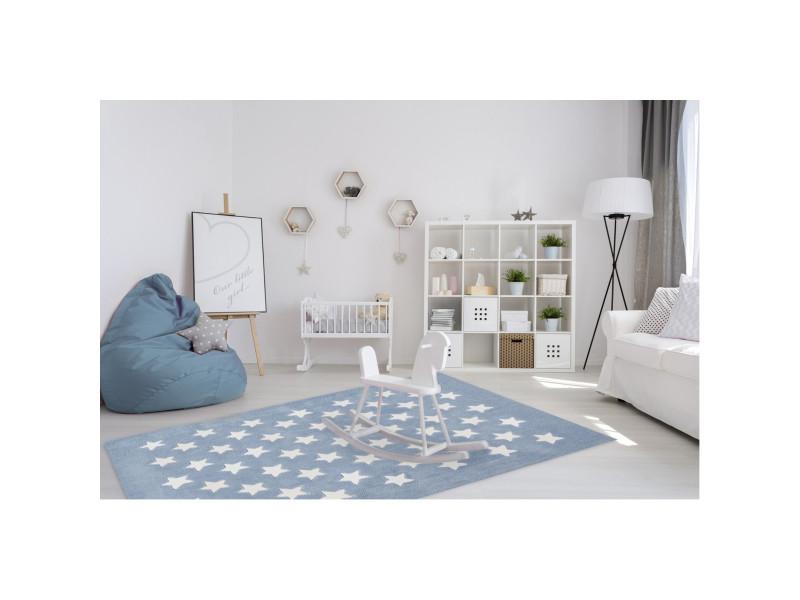 tapis en acrylique pour enfant bleu pastel dream bleu pastel 120x170 cm dre 701 pastel blue. Black Bedroom Furniture Sets. Home Design Ideas