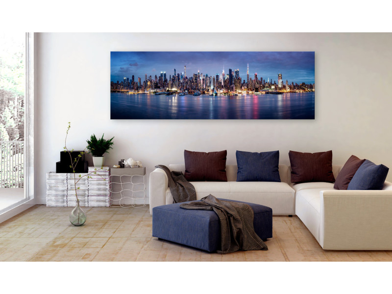 135x45 tableau new york villes sublime new york nights