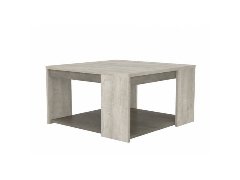 Table basse contemporaine chêne/béton clair bali
