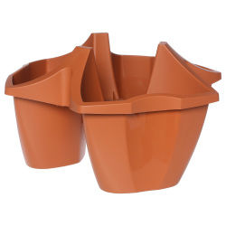 Jardinière artigas - 3 compartiments - terre cuite