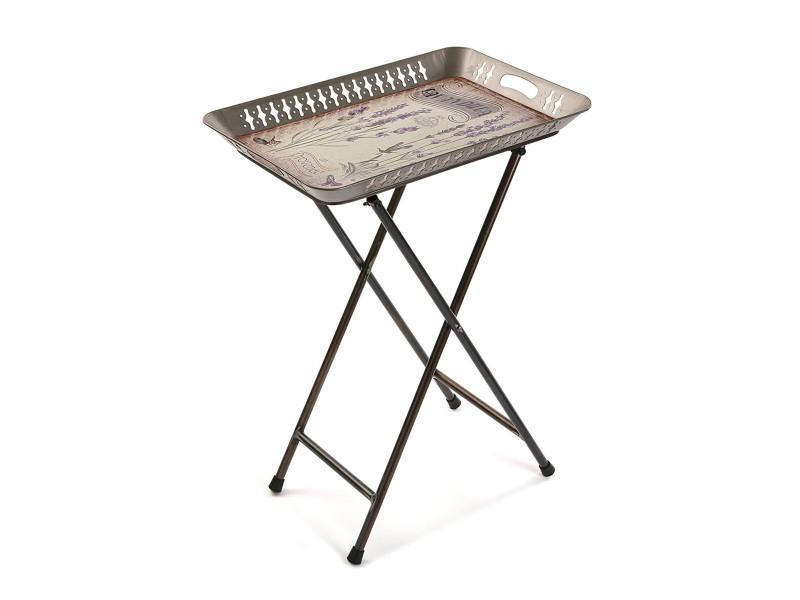 Table d'appoint avec plateau amovible - l 52 x l 35 x h 70 cm -pegane-