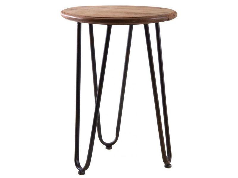 Table ronde en bois et métal filae
