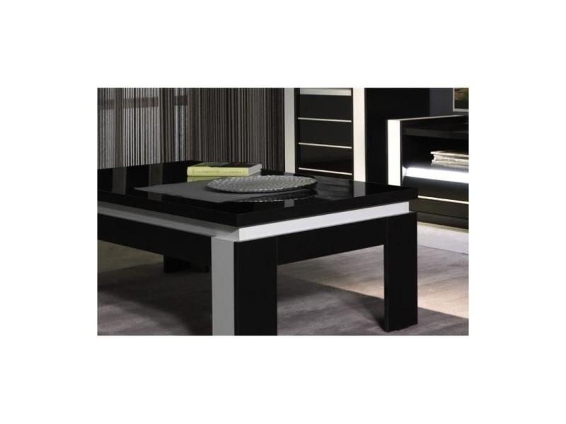 Ensemble meuble de salon lina blanc et noir laqu vente de price factory conforama for Ensemble meuble salon sejour