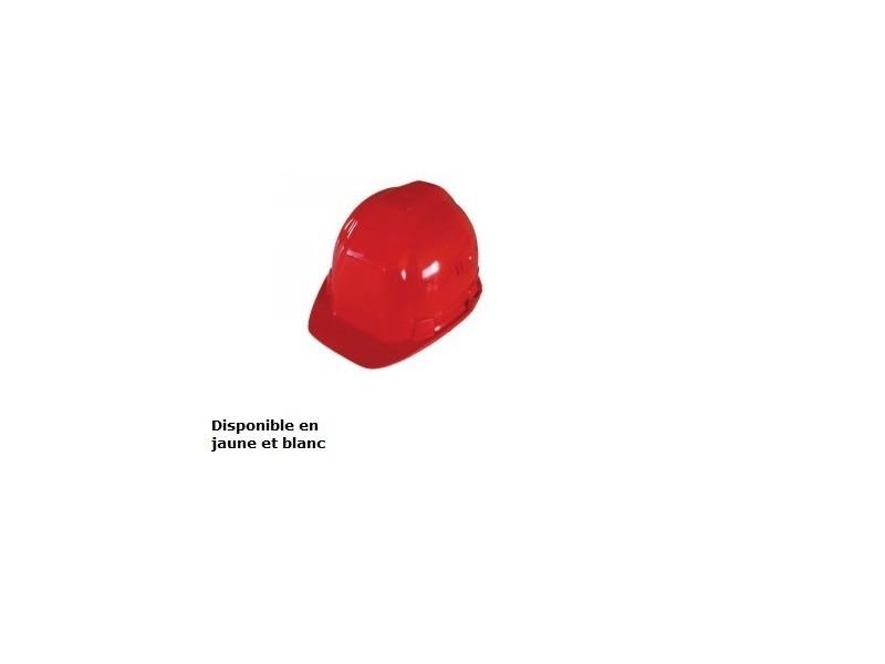 Outifrance - casque de chantier à têtière réglable rouge