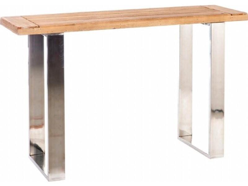Console rectangulaire bois métal aloomba 52966