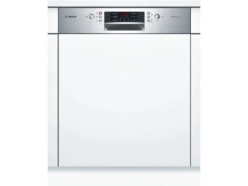 Lave-vaisselle 60cm 12c 44db a++ intégrable avec bandeau inox - smi46as04e BOSSMI46AS04E