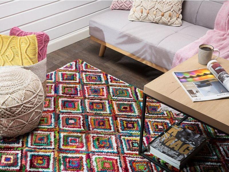Tapis Multicolore En Coton 160 X 230 Cm Kaiseri 38981 Vente De